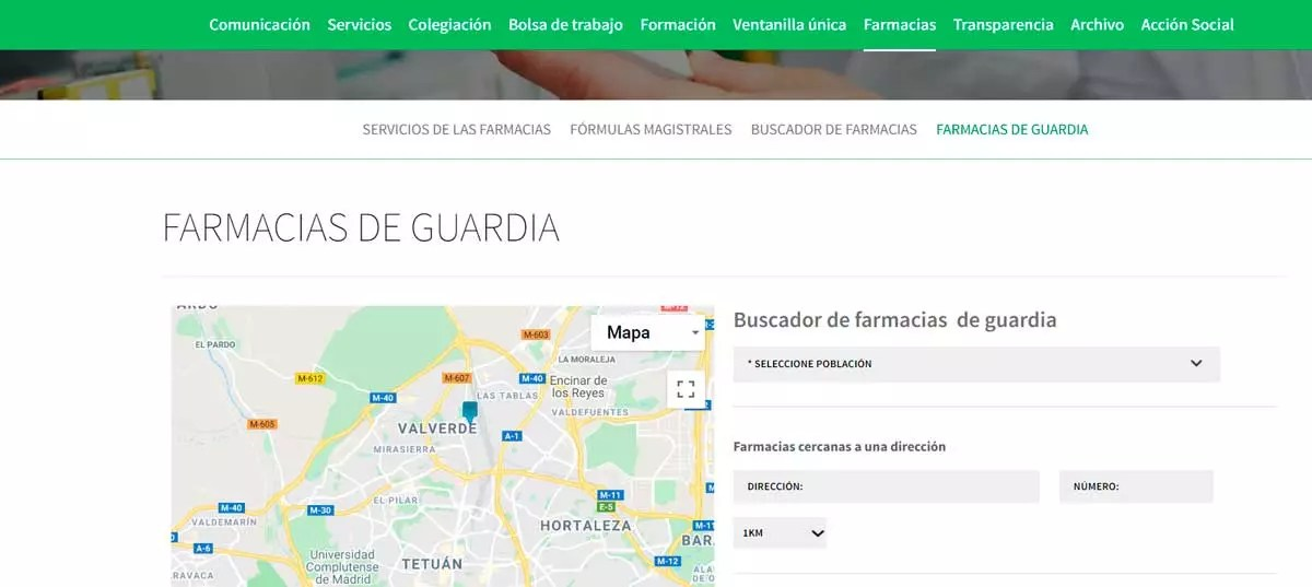Webs para emergencias - Farmacia de Guardia