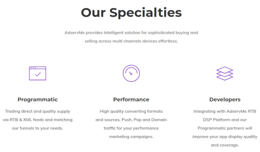 AdservME features
