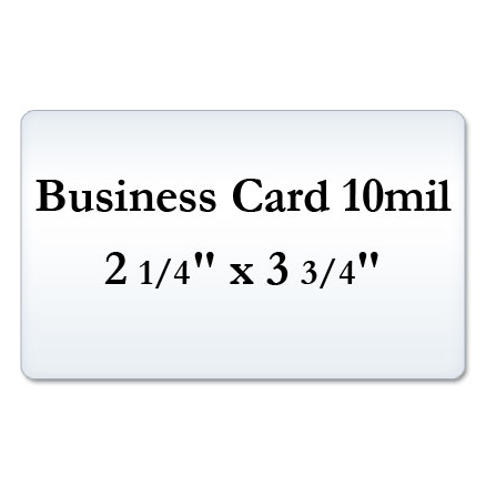 Business Card 10 Mil Matte Laminating Pouches, Matte