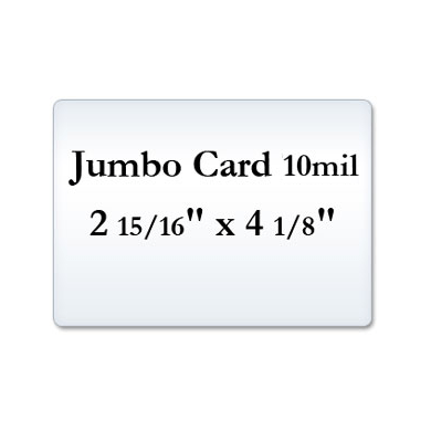 Jumbo Card 10 Mil, Small Laminating Pouches
