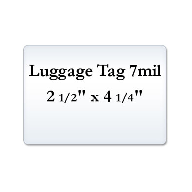 Luggage Tag 7 Mil Laminate Pouches, Small Laminating Pouches