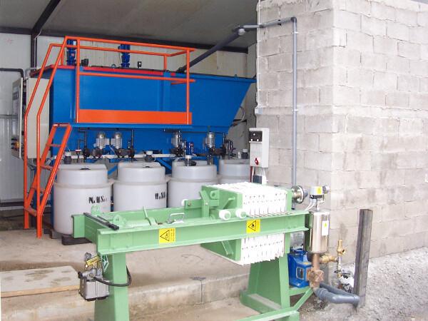 Μονάδα Φυσικοχημική Επεξεργασία Αποβλήτων