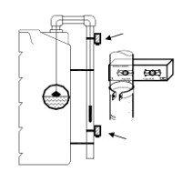 Φλοτέρ ένδειξης με αισθητήρες min/max