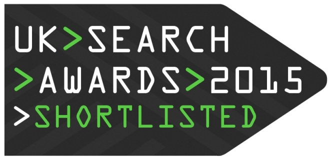 logo for uk search award shortlist 2015