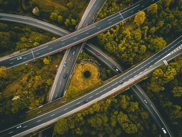 interlocking roads