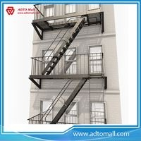 Outdoor Metal Fire Escape Stairs Leading Manufacturer Adto Mall | External Metal Fire Escape Stairs | Metal Railings | Stock Photo | Stair Railing | External Spiral Staircase | Fire Safety