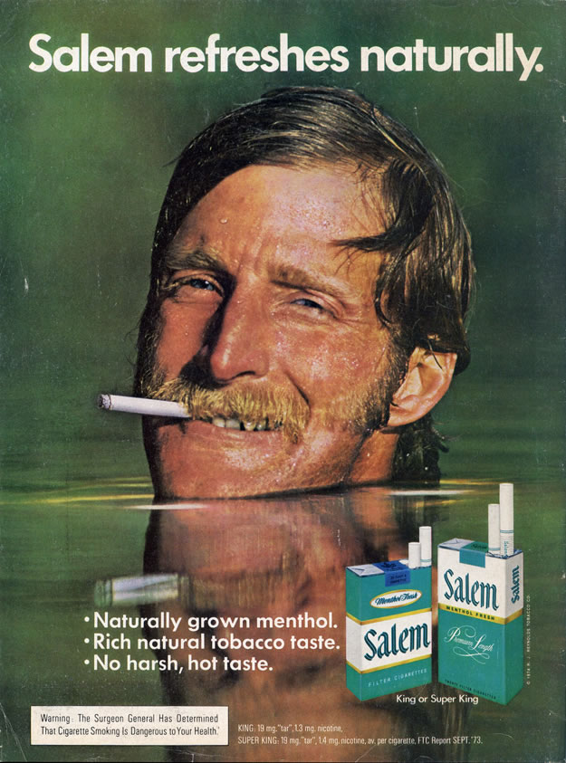 salem cigarettes Archives | Clayton Hove's Ad to the Bone