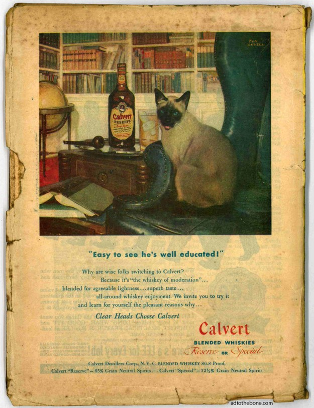 Calvert whiskey ad by Tom Lovell