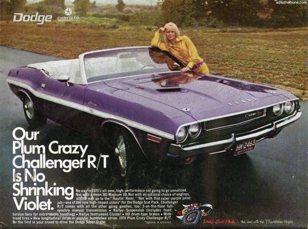 1970 Dodge Plum Crazy Challenger R/T ad