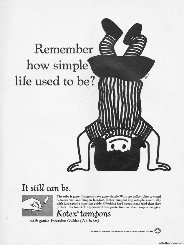 Kotex tampons ad from 1969