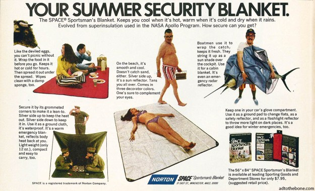 1969-ish ad for the Norton SPACE Blanket