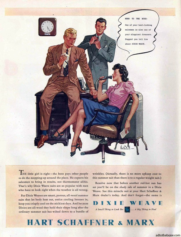 Magazine ad for Hart Schaffner & Marx - late 40s/early 50s