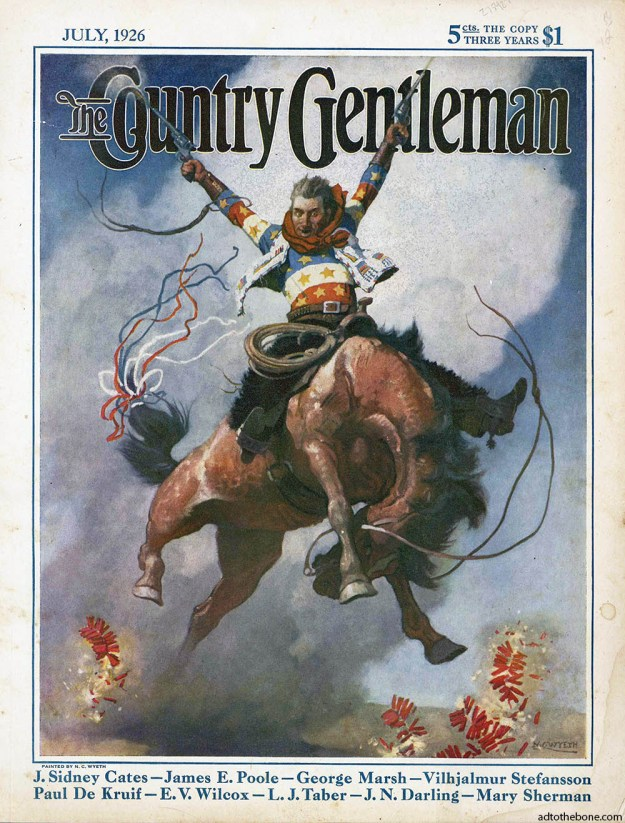 The Country Gentleman magazine for July 1926. Cover art by N.C. Wyeth.
