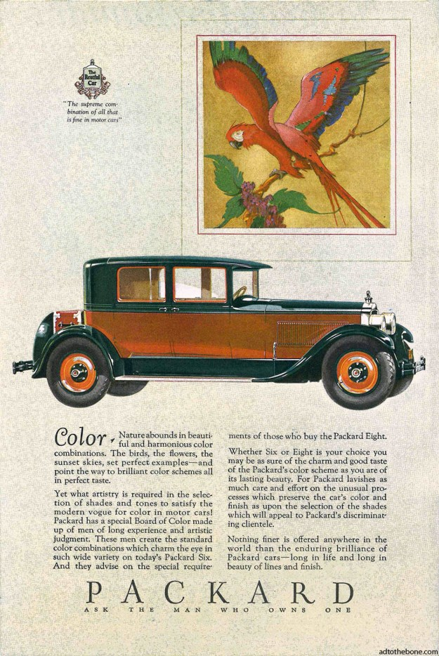 Packard magazine ad found in the July 2, 1927 issue of The Literary Digest