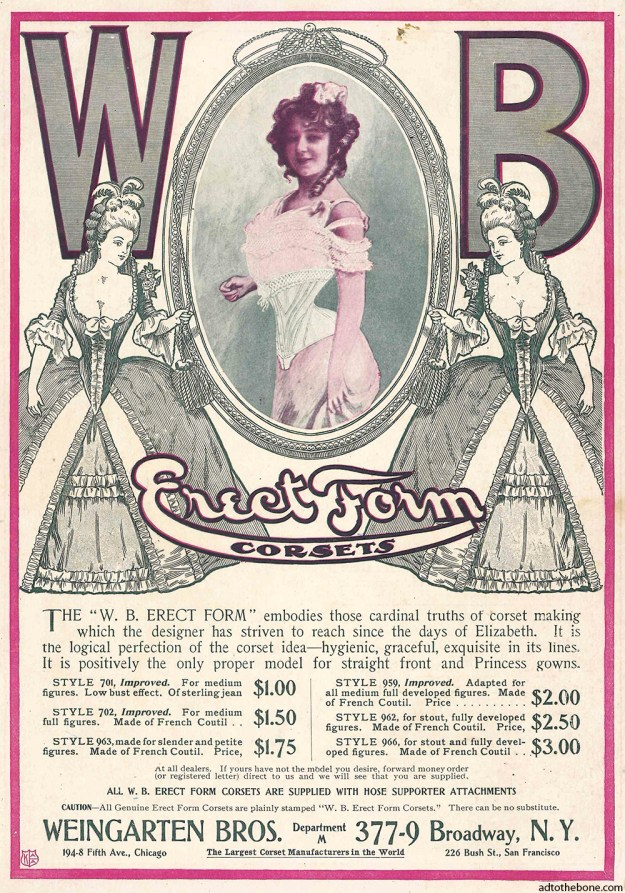Magazine ad for WB Erect Form Corsets from around 1901, I think.