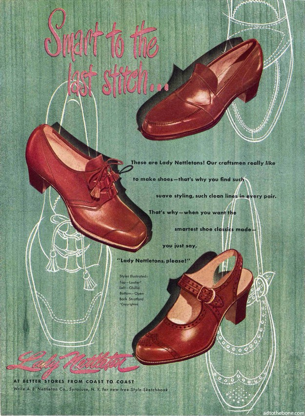 1948 magazine ad for Lady Nettleton shoes
