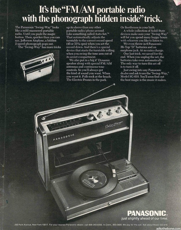 Panasonic magazine ad from around 1969