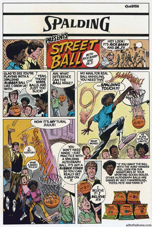 A comic book ad for Spalding from 1977.