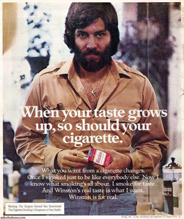 1976 magazine ad for Winston cigarettes