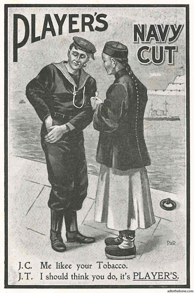 Magazine ad for Player's Navy Cut tobacco from a 1902 issue of Country Life magazine (the UK one, not the USA one).