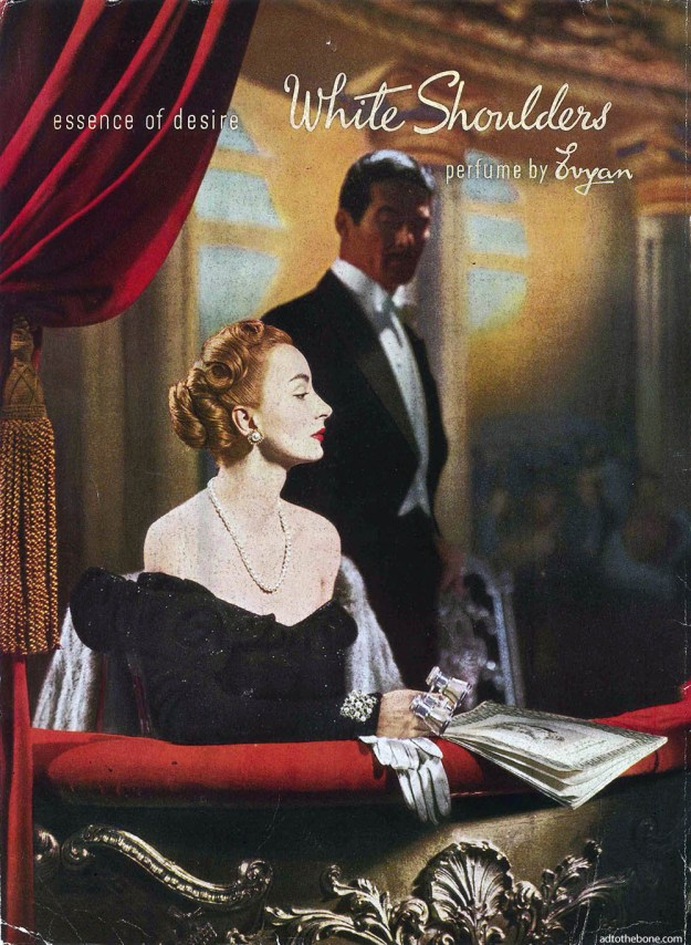 White Shoulders perfume ad from the December 1946 issue of Art News
