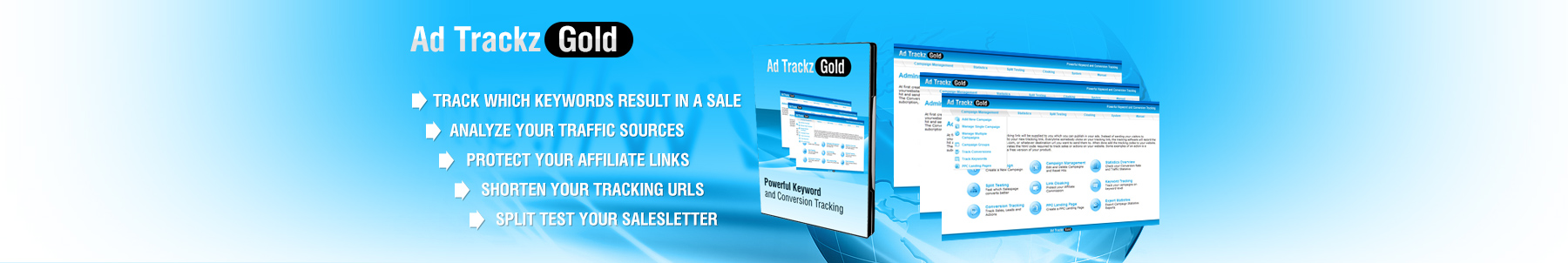 Ad Trackz Gold   Ad Tracking And Link Cloaking  Image of splashtop