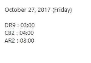 27 Oktober 2017