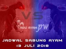 Jadwal Sabung Ayam 13 Juli 2018