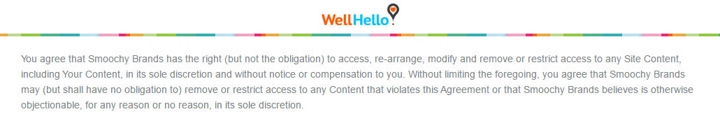 WellHello.com data modification