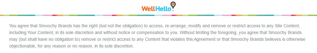 WellHello.com data modification