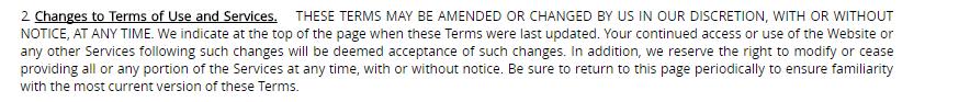 Fuckbook hookups change of terms