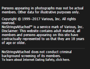 No Strings Attached no criminal background or real photos