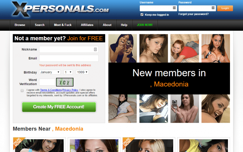 XPersonals.com screencap