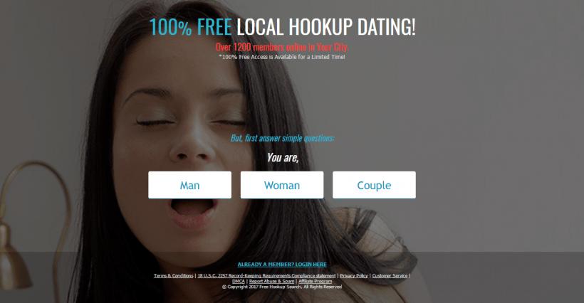 FreeHookupSearch.com screencap