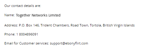 EbonyFlirt company