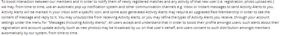 Fat Flirt activity alerts