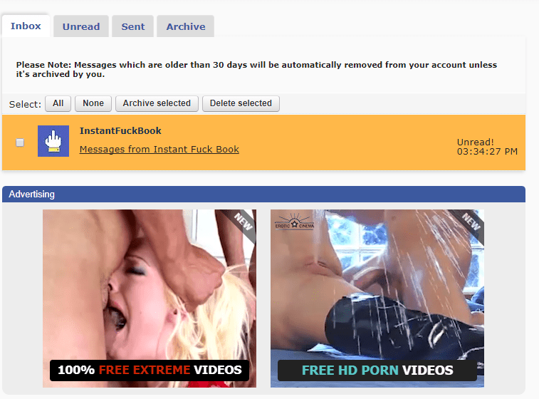 Instant Fuckbook porn content and messages