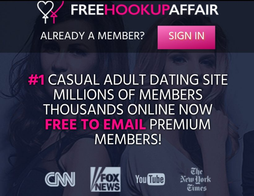 FreeHookupAffair.com screencap
