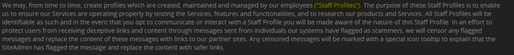 DoUWantMe staff profiles