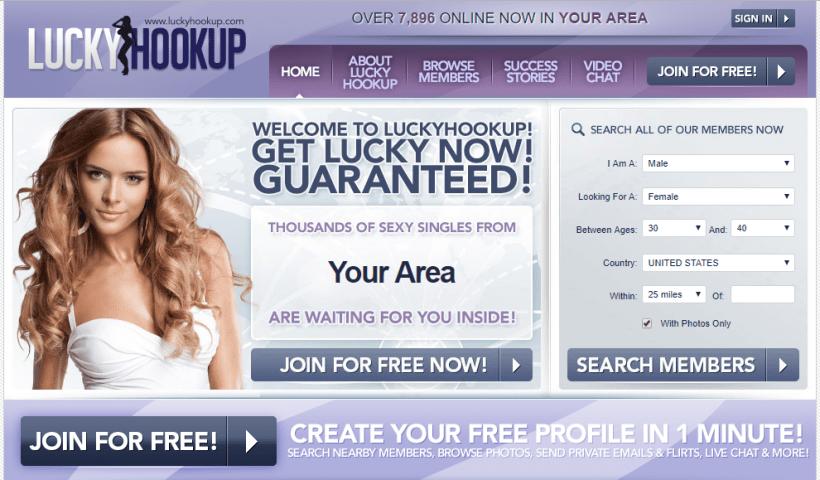 LuckyHookup.com screencap