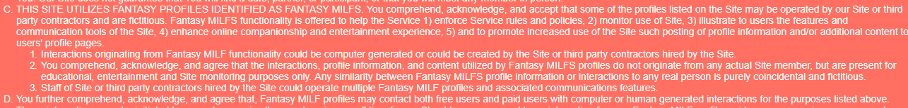 Milfder the purpose of fantasy milf profiles