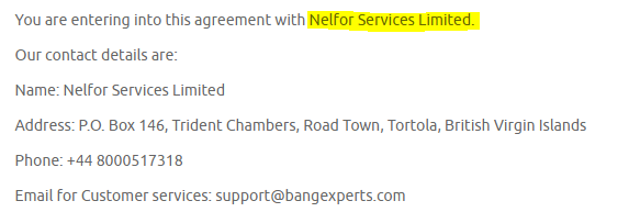 Bang Experts Nelfort services