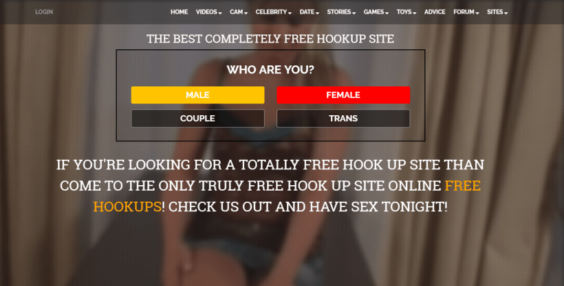 FreeHookups.com screencap