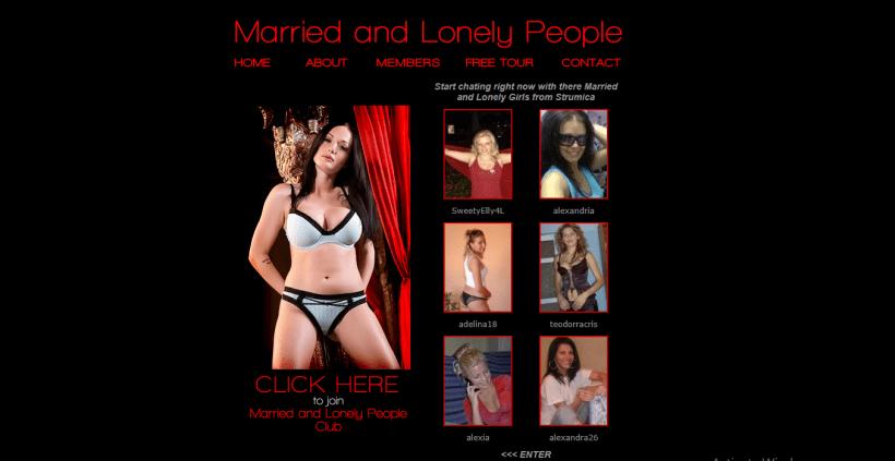 MarriedandLonelyPeople.com screencap