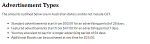 EscortsandBabes.com.au advertisment fees
