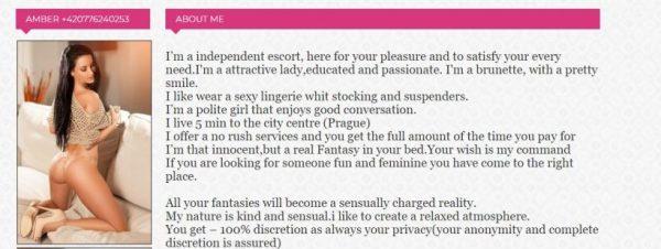 Escorts in Prague review girls