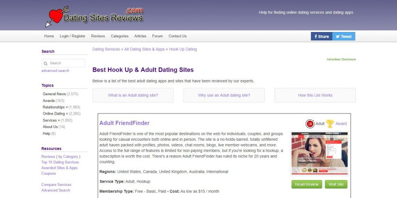 DatingSitesReviews.com Report home page