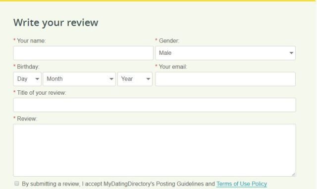 MyDatingDirectory Reviews from visitors
