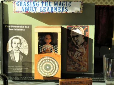 closeup of centerpiece - magicians