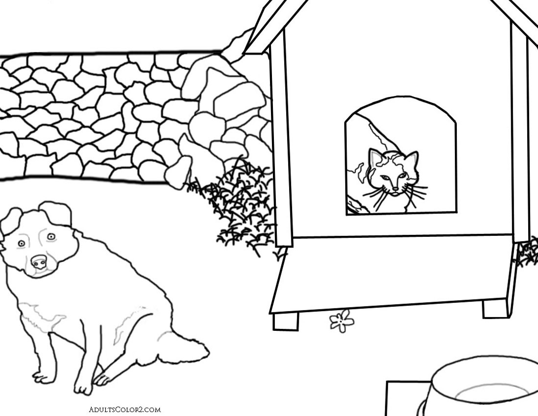Aww Te Cat Coloring Pages